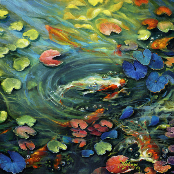 Animals and fish suzanne tornquist for Large koi pool